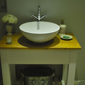 Bespoke washstand made for a client in the South Hams