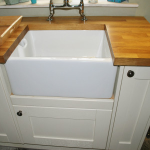 Belfast sink in a country cottage for a client in the South hams