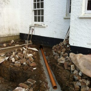 New plumbing for a complete extension